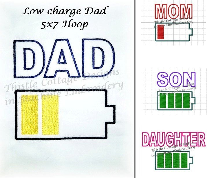 Charging Battery Family 5x7