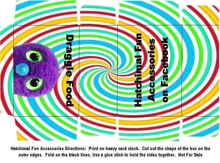 Hatchimal Draggle Food Boxes Craft Printable PDF