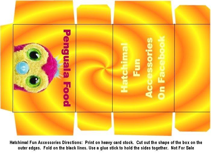 Hatchimal Penguala Food Boxes Craft Printable PDF