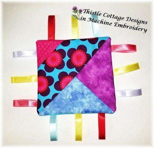 Stitch N' Flip Quilted Taggie Block 1 Soft Toy
