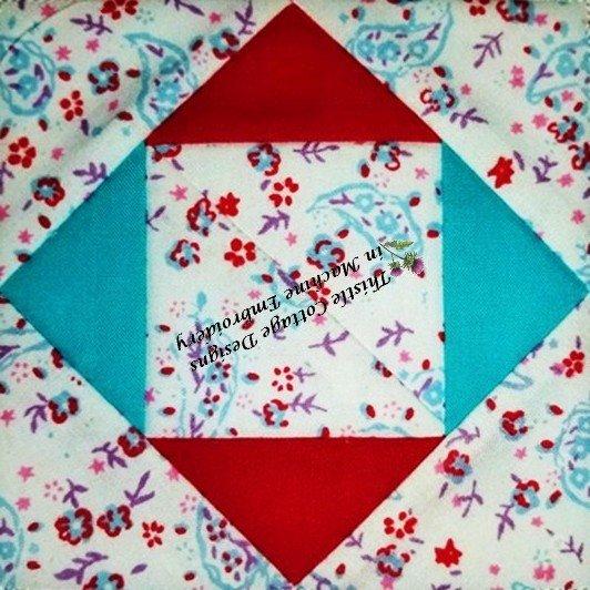 Stitch N' Flip Quilt Block #2 ITH