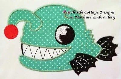 Angler Fish Applique 5x7