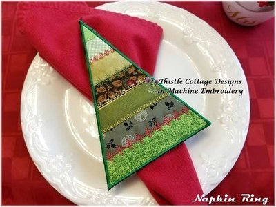 Stitch N' Flip Crazy Quilt Tree Napkin Ring & Applique