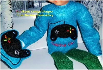 Game On Elf Sweater & Game Controller Mitten for 12