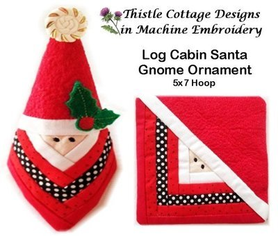 Stitch N' Flip Log Cabin Santa Gnome