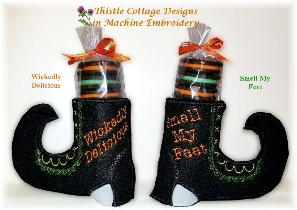 Witch Shoes Cookie Stacker Set of 2 Designs