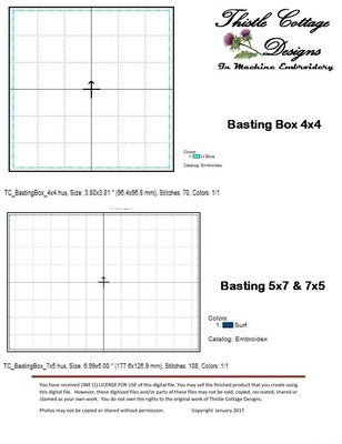 Basting Boxes 4x4 and 5x7