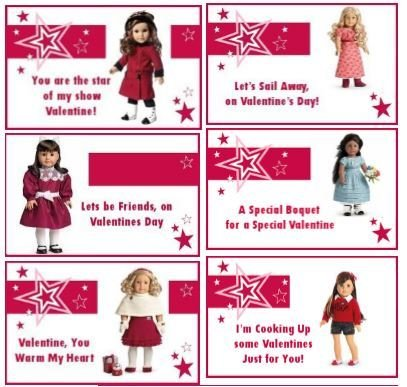 "18"" Doll Valentine Printables PDF Freebie"