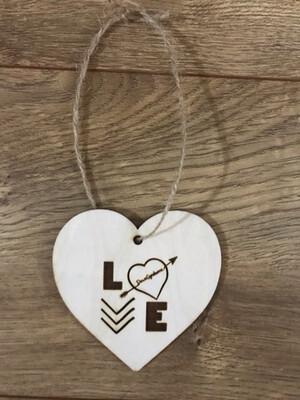 Heart DS LOVE Ornament