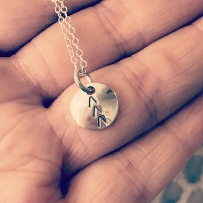 Sterling Silver Arrows Circle Necklace