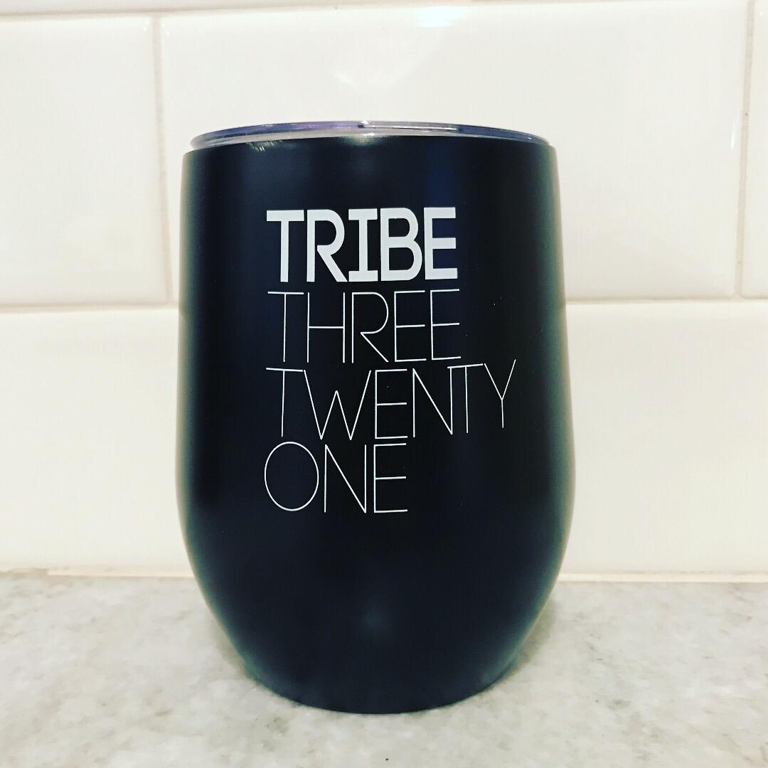 Tribe Three Twenty One Matte Black Stainless Wine/Coffee Travel Cup