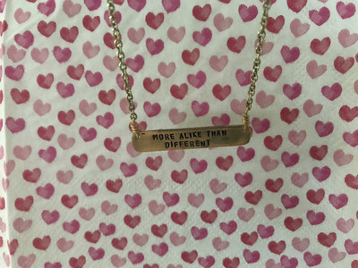 More Alike Than Different- Bar Necklace