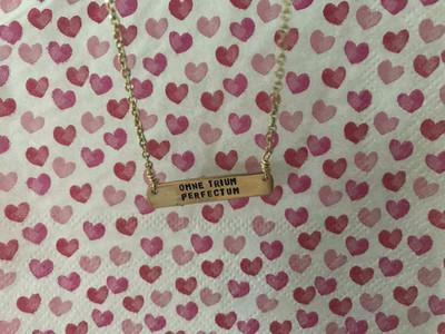 Omne Trium Perfectum- Bar Necklace