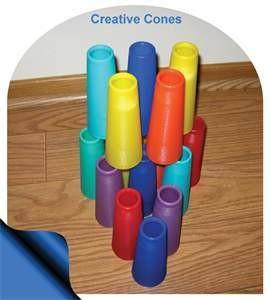 10 PLASTIC CREATIVE CONES - COLOR CHOICE