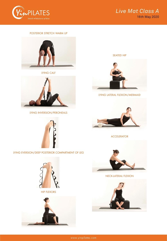 Online Yin Pilates Mat Class A