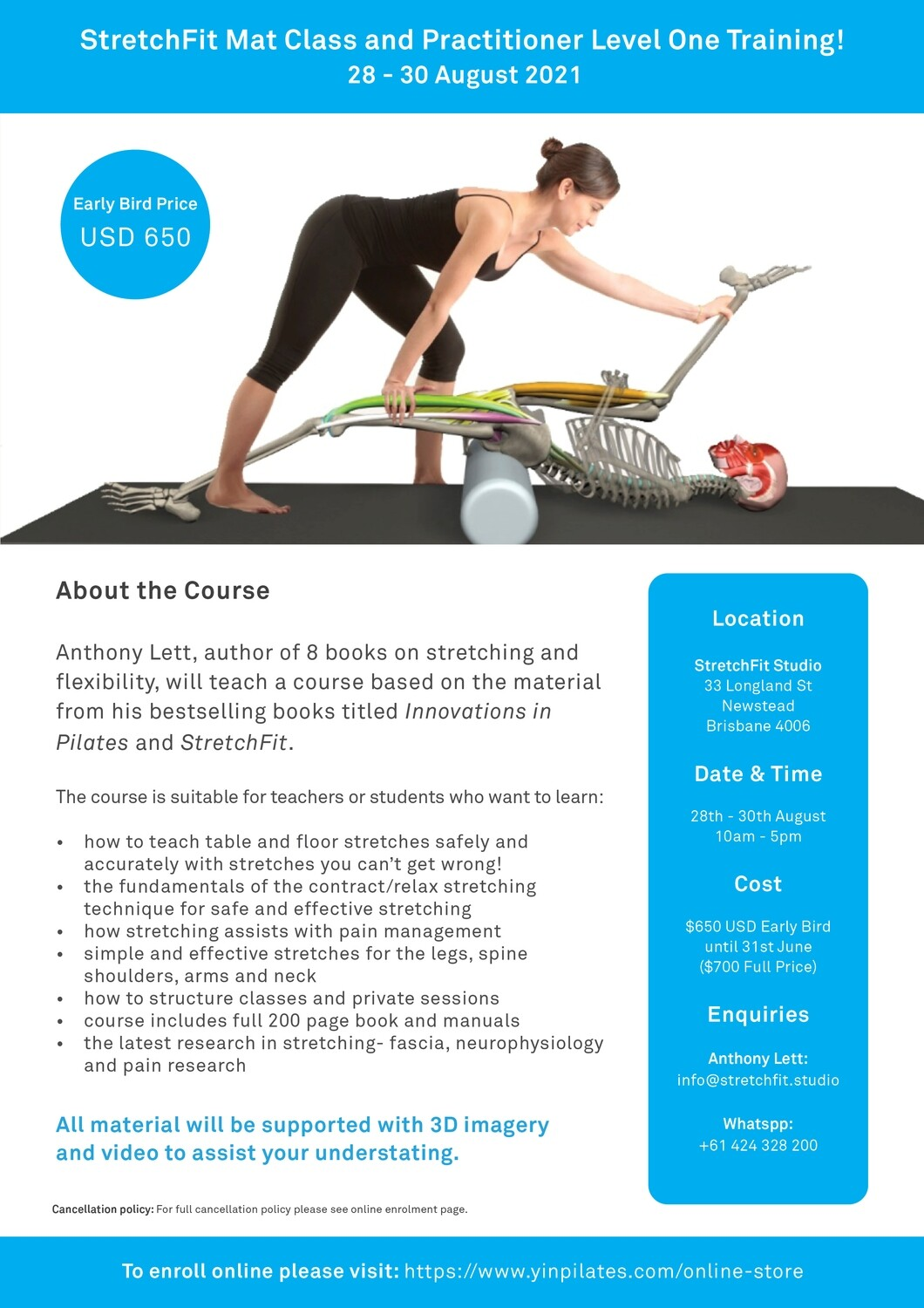 StretchFit Mat and Practitioner Level One Course (Newstead)