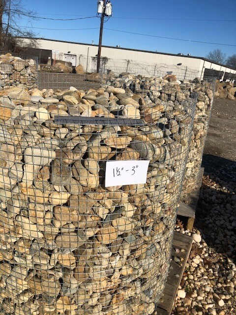 """Tennessee River Rock   1-1/2"""" to 3""""   (1-TON PALLET)"""