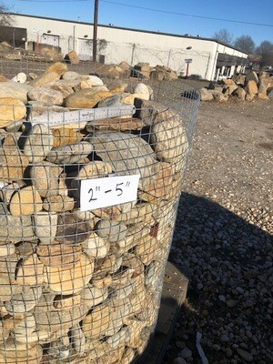 "Tennessee River Rock   2"" to 5""    (1-TON PALLET)"