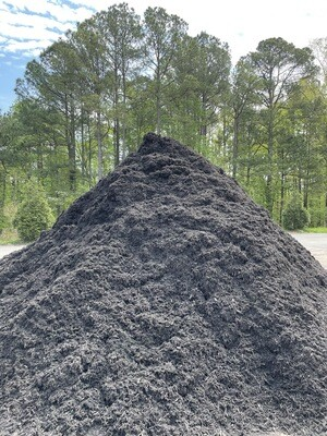 Black DYED, Triple Shred Hardwood Mulch (NEW)