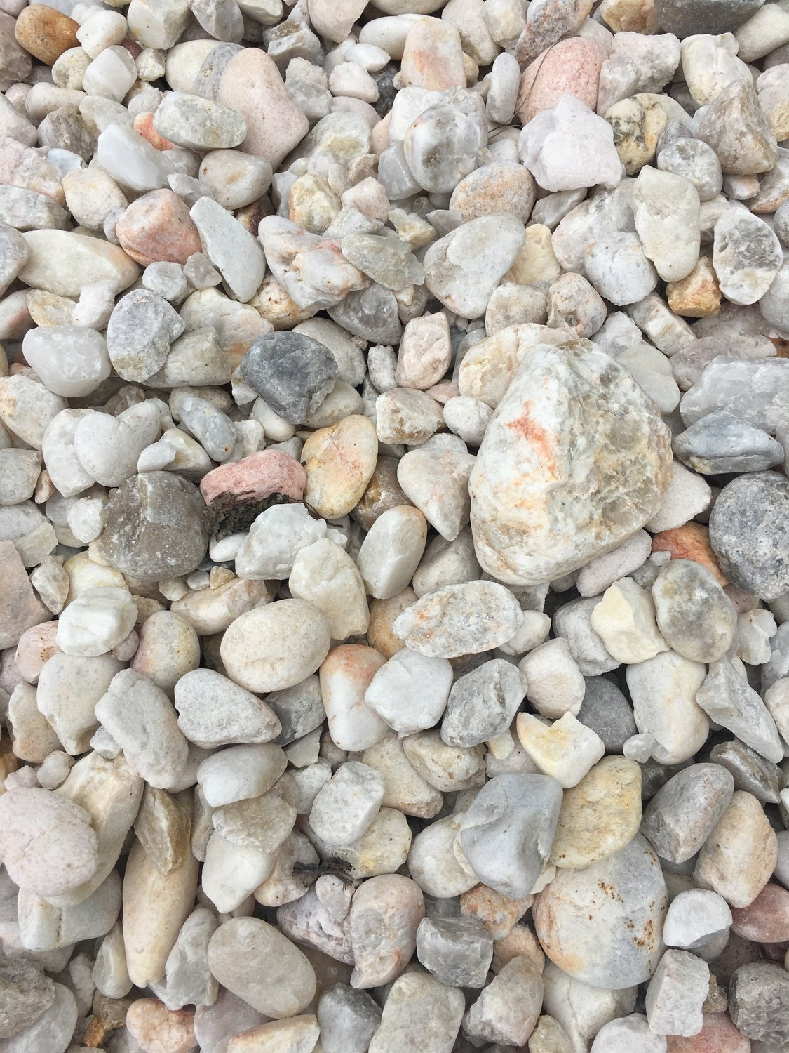 """White Quartzite (LIMITED from QUARRY) ( 1- 1/2"""" to 3"""" in BULK)"""