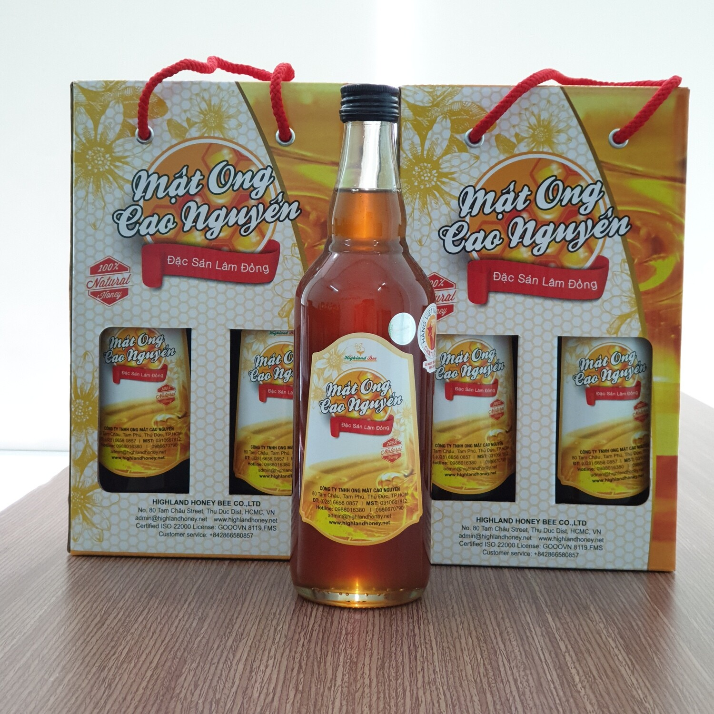 Mật ong hộp đôi 2 chai 500ml