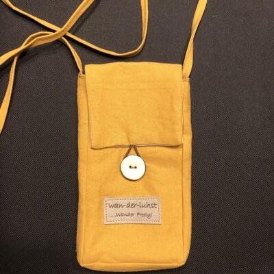 Wanderlust Linen Phone Bag