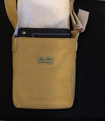 Wanderlust Yellow/Gold Small Linen Messenger Bag
