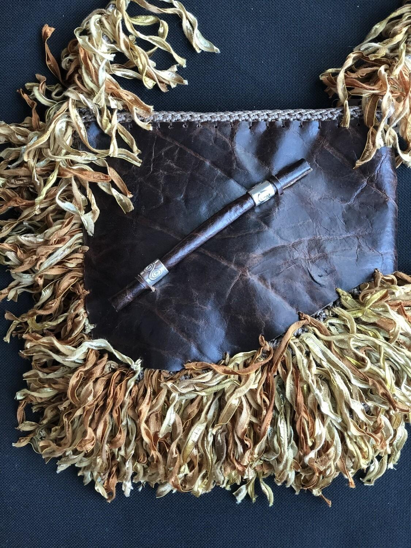 Crossbody BoHo Distressed  Leather & Fringe Handbag
