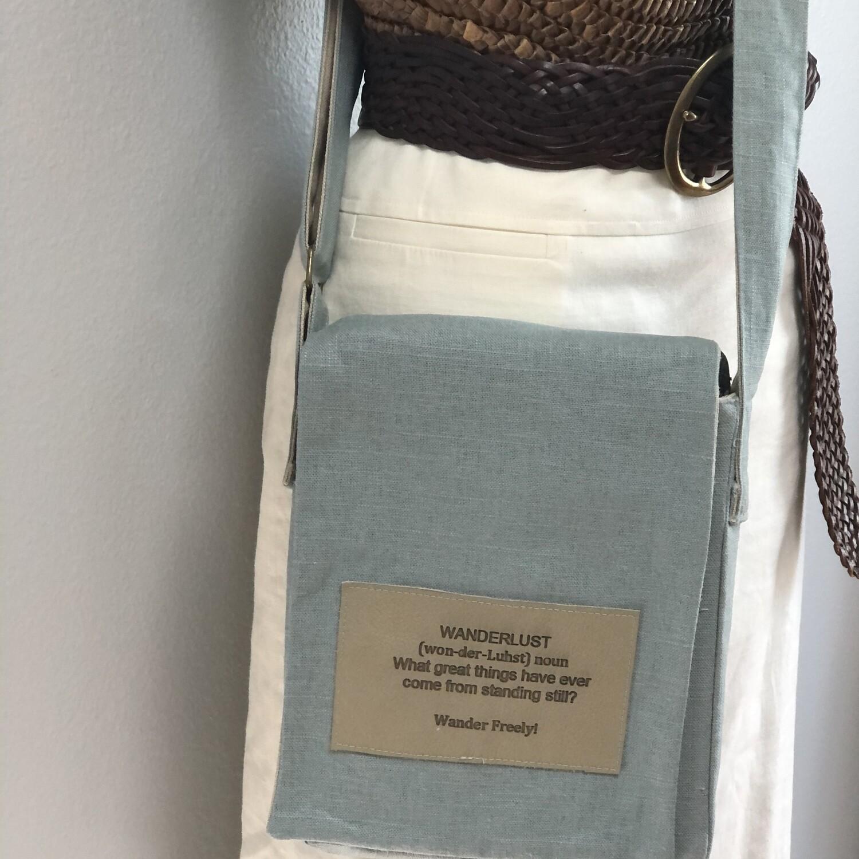 Sea Foam Crossbody Messenger Bag IPad Small