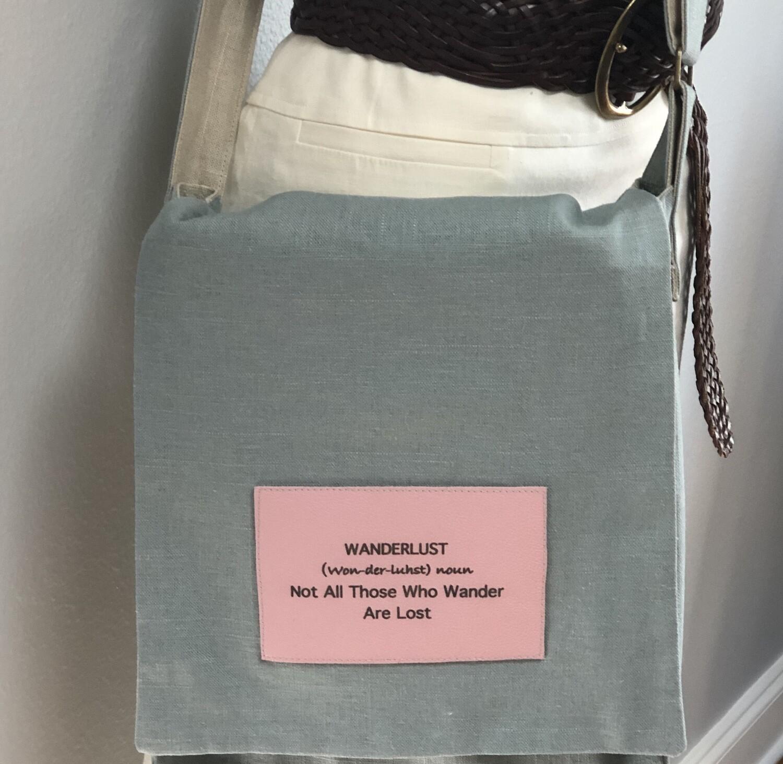 Wanderlust Linen Crossbody Messenger/Computer Bag XLG