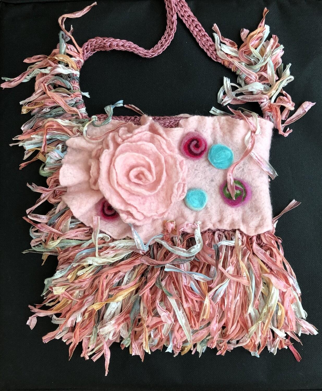 Pink & Whimsical Crossbody Handbag