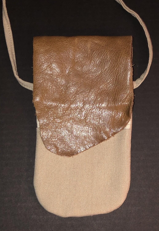 Leather & Canvas Phone bag
