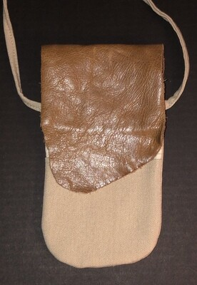 Leather & Canvas Phone bag