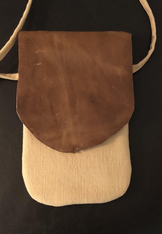 Canvas & Leather Phone Bag