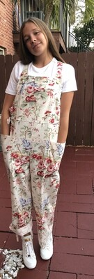 Floral Dungarees (overalls) size 4 - size 10