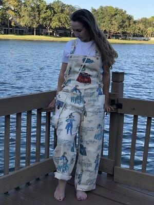 """Women's Linen Overalls""""Dungarees"""" by gayle foshee'"""