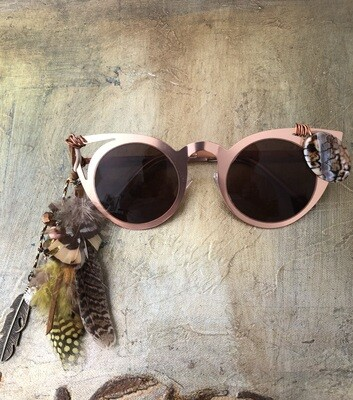 Women's Country Western Feather Sunglasses