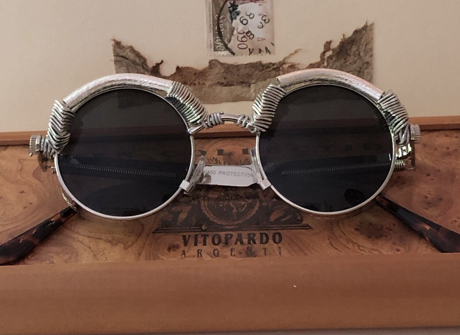 Steampunk Sunglasses Small Round Wire Wrapped John Lennon
