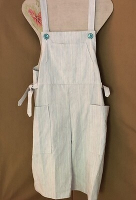 Women's Cropped Pinstripe Overalls