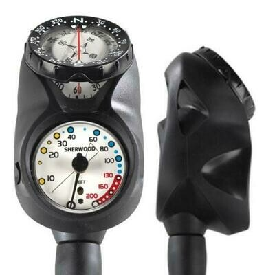 Sherwood Navigational Console 200', Pressure Gauge, Compass, 1.75dia