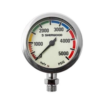 Sherwood 2-inch Brass Pressure Gauge