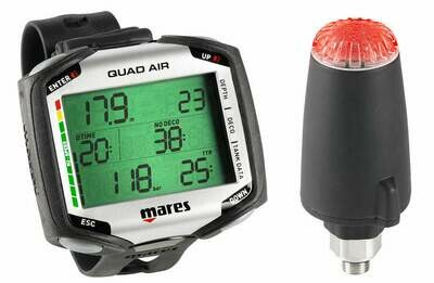 Mares Dive Computer Quad Air W/LED Transmitter