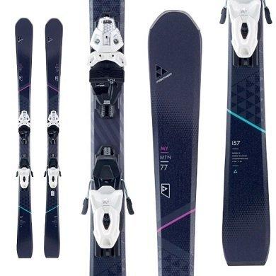 Fischer My Mountain 77 Women's Skis w/ My MBS Twin Powerrail Bindings