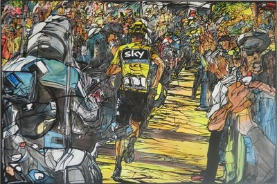 Running Chris - Acrilico su tela 120x80