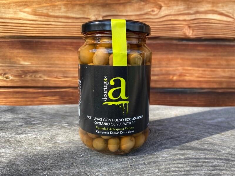 Bio Oliven mit Kern in Salzlake, 370g