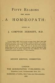Fifty Reasons for being a Homoeopath*