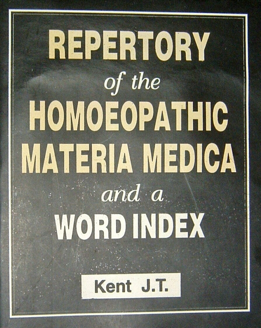 Repertory of the homeopathic Materia Medica and a word index*