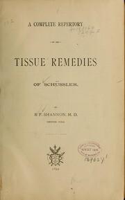 The twelve tissue Remedies of Schüssler*