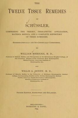 Repertory of Tissue Remedies of Schussler - vintage*