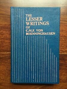 The lesser writings of Boenninghausen*